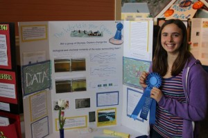 Chloe holding Blue Ribbon