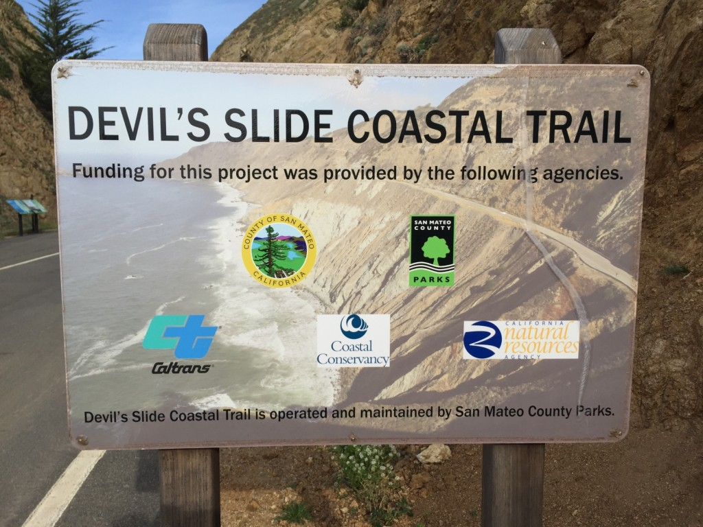 Devil's Slide sign