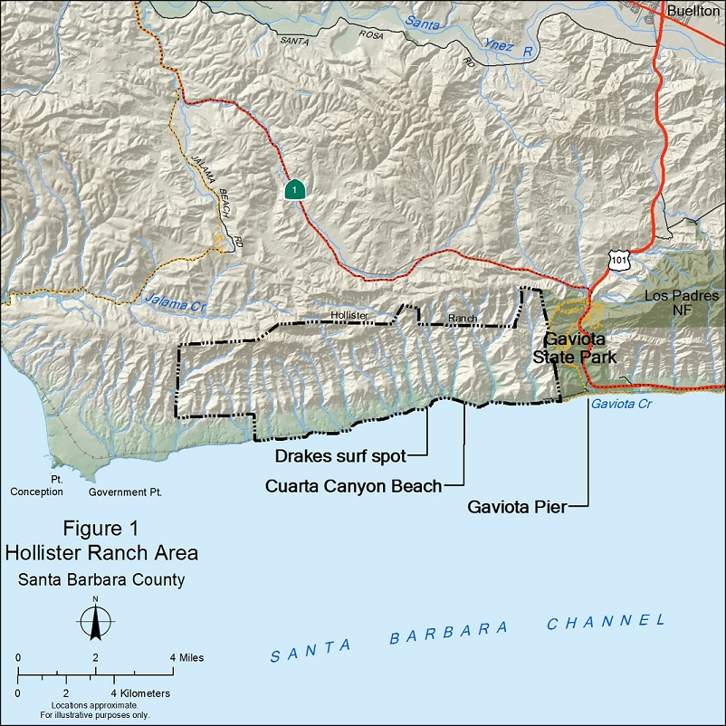 Hollister Ranch map image