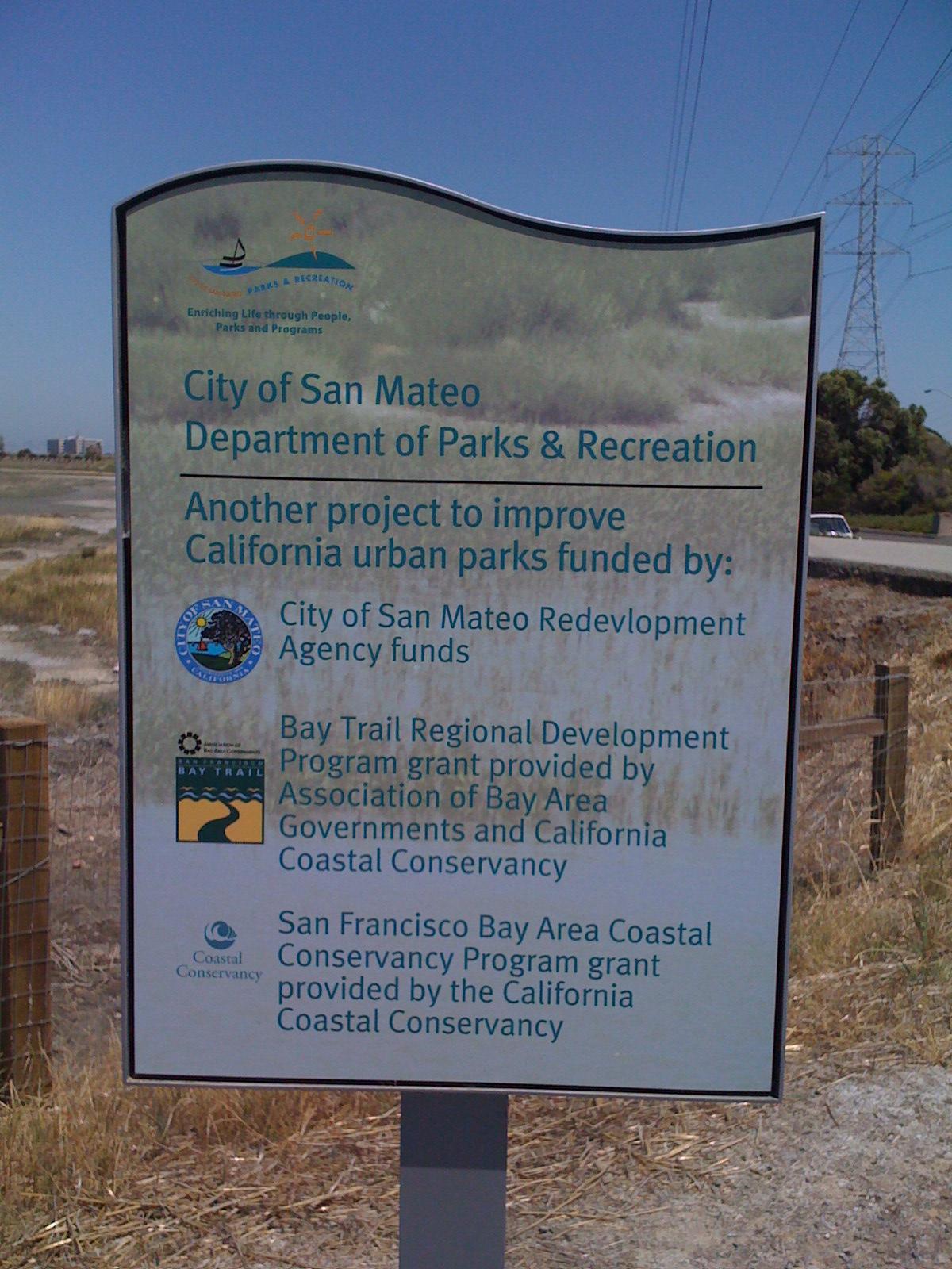 San Mateo marshes sign