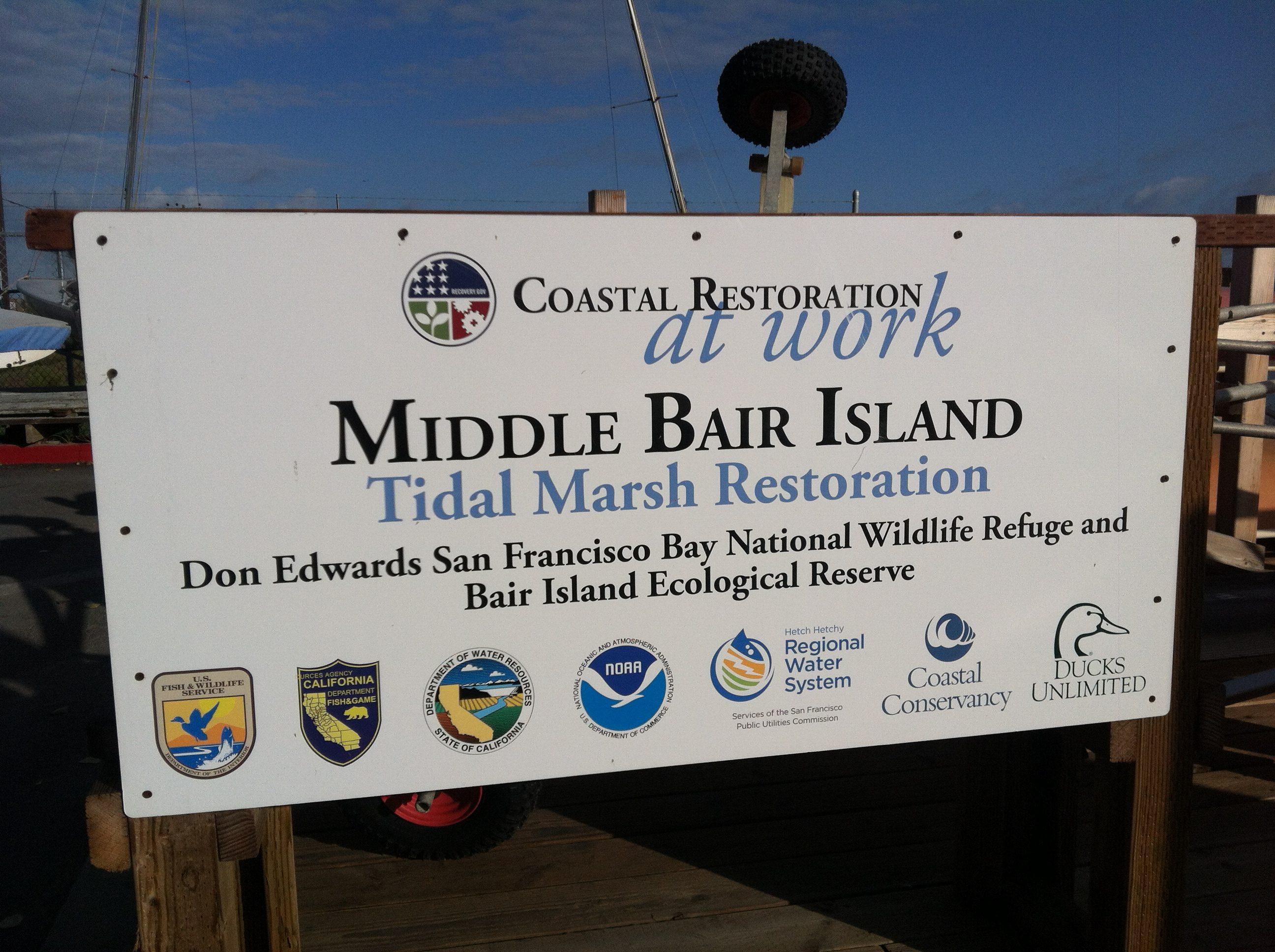 Bair island sign
