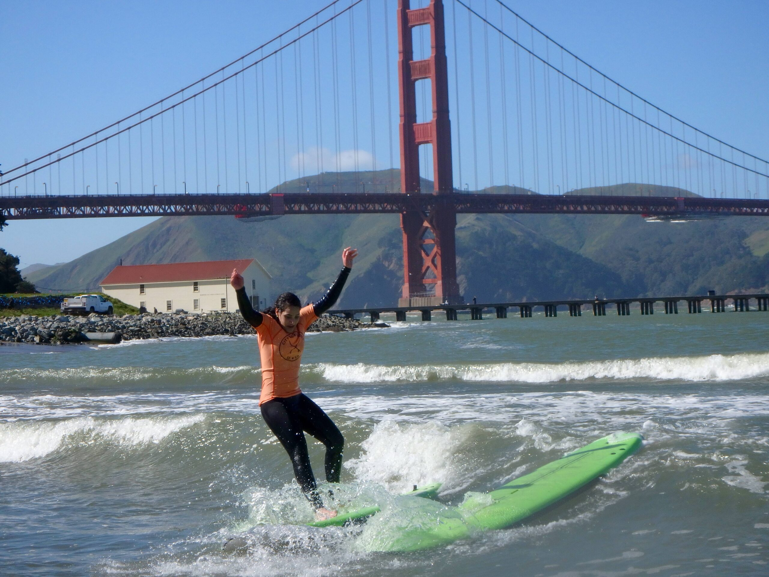 Surfer by Golden Gate