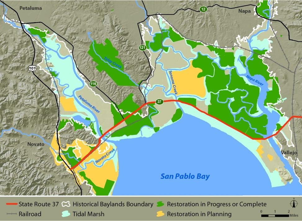San Pablo Baylands Map